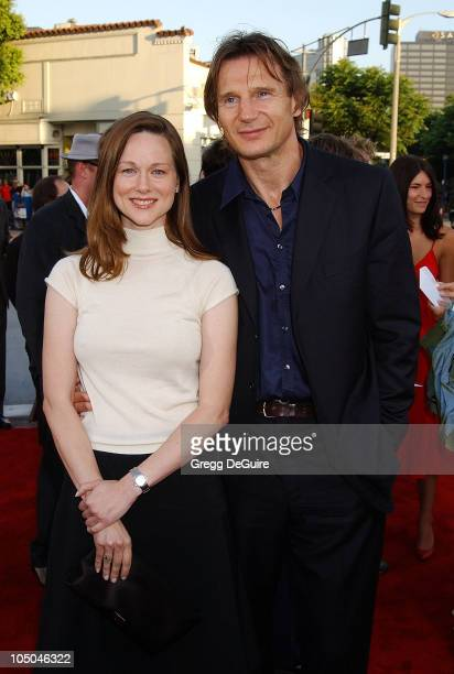 Laura Linney Liam Neeson during 'K19 The Widowmaker' Premiere at Mann Village Theatre in Westwood California United States