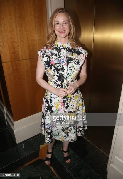 Laura Linney poses at The 71st Annual Tony Awards Meet the Nominees Press Junket at Sofitel Hotel on May 3 2017 in New York City