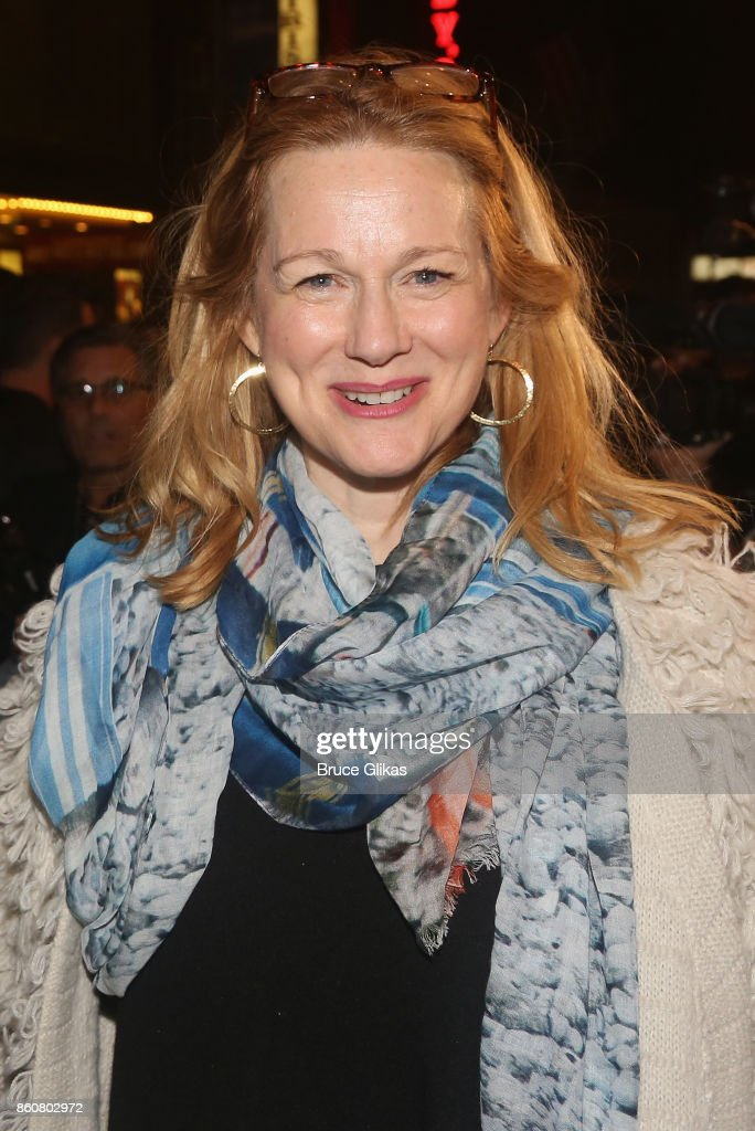 Laura Linney poses at the opening night arrivals for 'Springsteen on Broadway' at The Walter Kerr Theatre on October 12, 2017 in New York City.