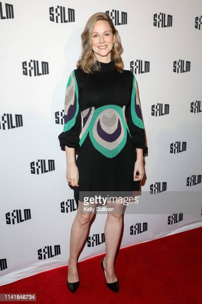 Laura Linney poses for a photo on the red carpet at the Tales of the City Premiere at the Castro Theater on April 10 2019 in San Francisco California