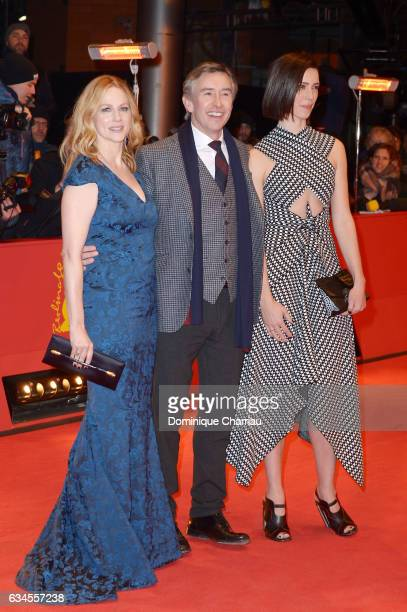 Laura Linney Steve Coogan and Rebecca Hall attend the 'The Dinner' premiere during the 67th Berlinale International Film Festival Berlin at Berlinale...