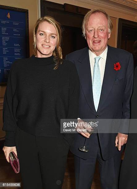 Laura Lopes and Andrew Parker Bowles attend the launch of 'Fortnum Mason The Cook Book' by Tom Parker Bowles at Fortnum Mason on October 18 2016 in...