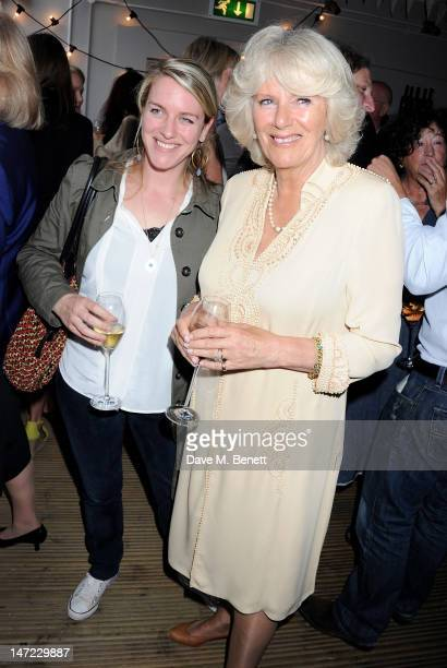 Laura Lopes and Camilla Duchess of Cornwall attend as Tom Parker Bowles launches his new cookbook 'Let's Eat Recipes From My Kitchen Notebook' at the...