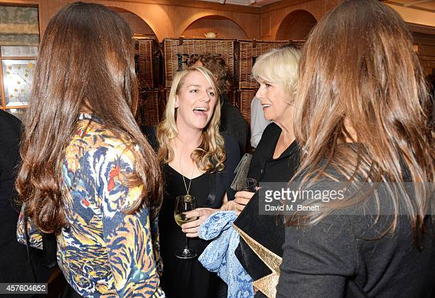 Laura Lopes and Camilla Duchess of Cornwall attend Fortnum Mason's Diamond Jubilee Tea Salon for the launch of Tom Parker Bowles' new book Let's Eat...