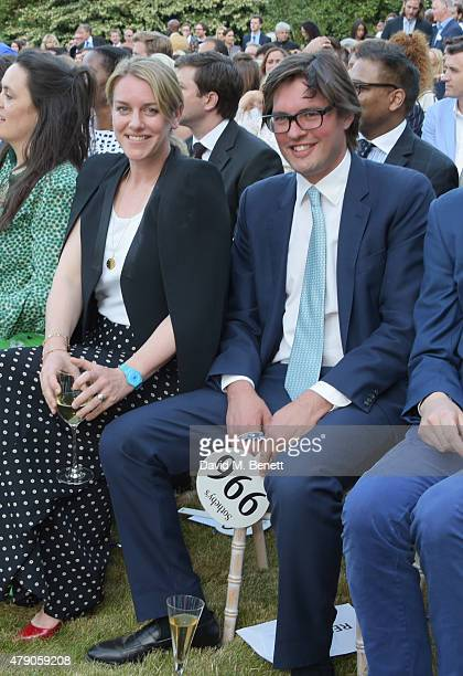Laura Lopes and Harry Lopes attend the Quintessentially Foundation and Elephant Family's Royal Rickshaw Auction presented by Selfridges at Lancaster...