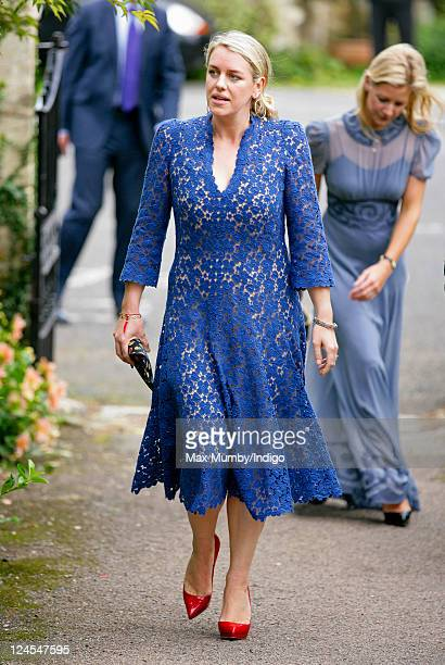 Laura Lopes attends the wedding of Ben Elliot and MaryClare Winwood at the church of St Peter and St Paul Northleach on September 10 2011 in...