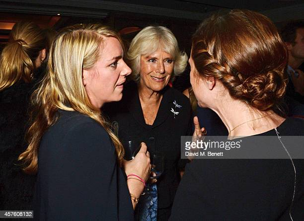 Laura Lopes Camilla Duchess of Cornwall and guest attend Fortnum Mason's Diamond Jubilee Tea Salon for the launch of Tom Parker Bowles' new book...