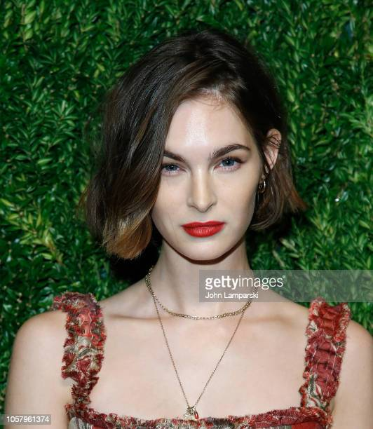 Laura Love attends CFDA / Vogue Fashion Fund 15th Anniversary Event at Brooklyn Navy Yard on November 5 2018 in Brooklyn New York