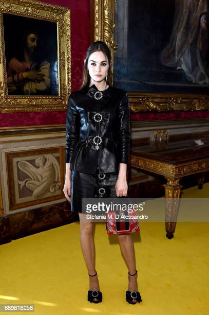 Laura Love attends the Gucci Cruise 2018 fashion show at Palazzo Pitti on May 29 2017 in Florence Italy
