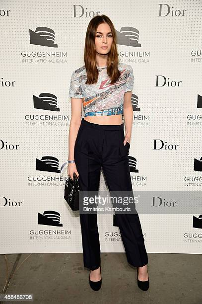 Laura Love attends the Guggenheim International Gala PreParty made possible by Dior on November 5 2014 in New York City