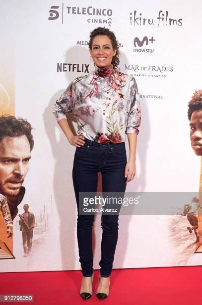 Laura Madrueno attends 'El Cuaderno De Sara' premiere at the Capitol cinema on January 31 2018 in Madrid Spain
