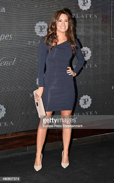 Laura Madrueno attends 'Regression' party after premiere on September 30 2015 in Madrid Spain