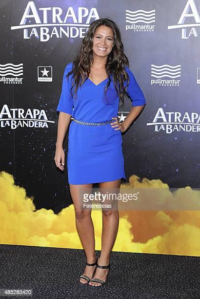 Laura Madrueno attends the 'Atrapa La Bandera' Madrid Premiere at Kinepolis Cinema on August 26 2015 in Madrid Spain