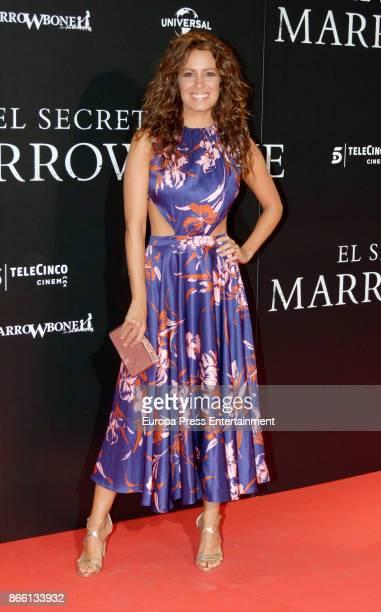 Laura Madrueno attends the premier of 'El Secreto de Marrowbone' at Capitol cinema on October 24 2017 in Madrid Spain