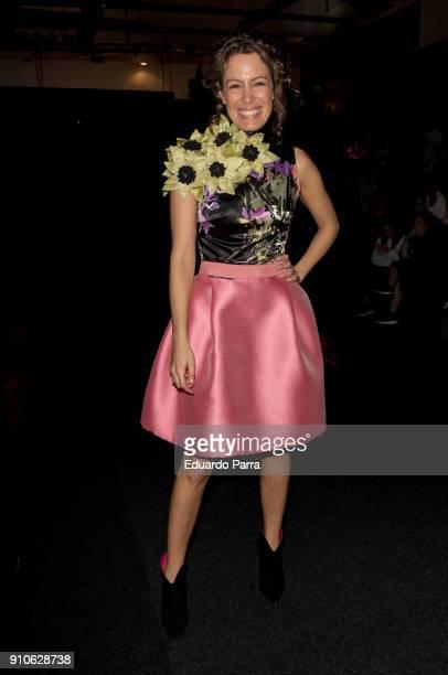 Laura Madrueno is seen at the Hannibal Laguna show during MercedesBenz Fashion Week Madrid Autumn/ Winter 201819 at Ifema on January 26 2018 in...