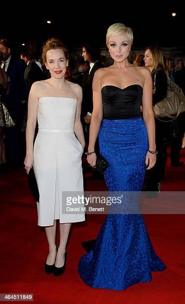 Laura Main and Helen George of 'Call The Midwife' attend the National Television Awards at the 02 Arena on January 22 2014 in London England