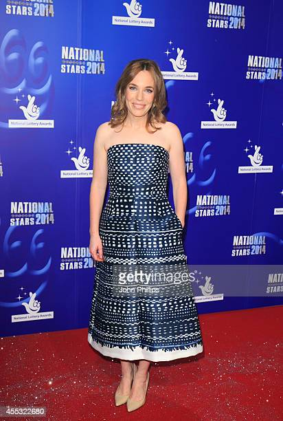 Laura Main attends the National Lottery Awards at Pinewood Studios on September 12 2014 in Iver Heath England