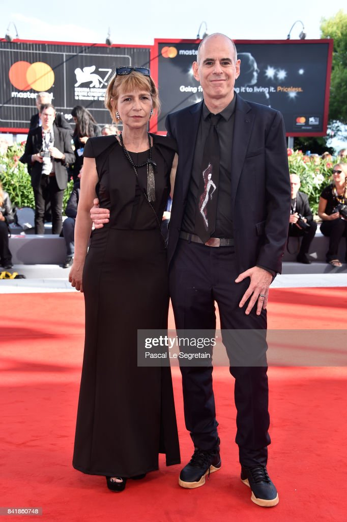 Laura Maoz and Samuel Maoz walk the red carpet ahead of the 'Foxtrot' screening during the 74th Venice Film Festival at Sala Grande on September 2, 2017 in Venice, Italy.