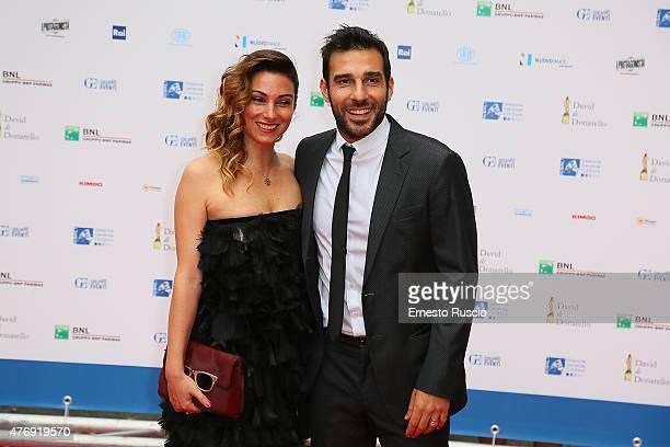 Laura Marafioti and Edoardo Leo attend the '2015 David Di Donatello' Awards Ceremony at Teatro Olimpico on June 12, 2015 in Rome, Italy.