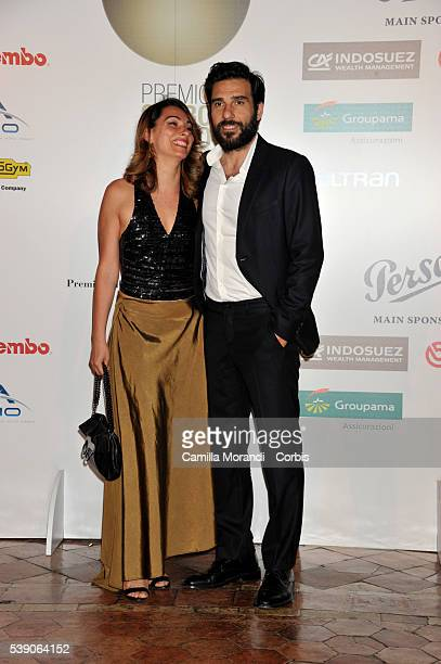 Laura Marafioti and Edoardo Leo attend the Globi D'Oro 2016 Awards Ceremony on June 9, 2016 in Rome, Italy.