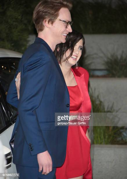 Laura Marano and Calum Worthy are seen on February 28 2018 in Los Angeles California