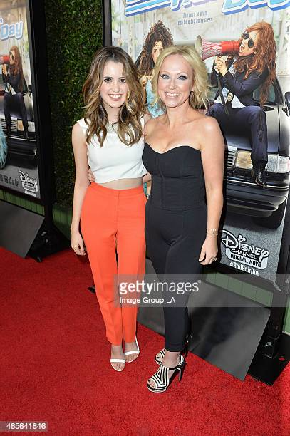 DAY Laura Marano and LeighAllyn Baker stars of the Disney Channel Original Movie 'Bad Hair Day' celebrate the movie's upcoming premiere at a...
