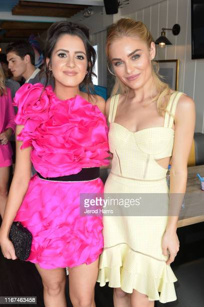 Laura Marano and Michelle Randolph attend Cold Stone Creamery Backstage at 2019 Teen Choice Awards on August 11 2019 in Hermosa Beach California