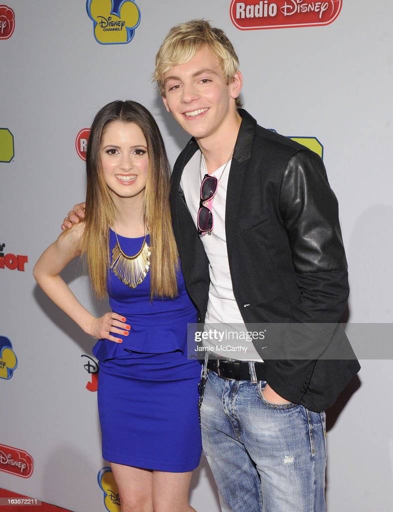 Laura Marano and Ross Lynch attend the Disney Channel Kids Upfront 2013 at Hudson Theatre on March 12, 2013 in New York City.