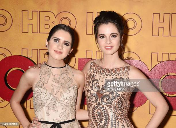 Laura Marano and Vanessa Marano attend HBO's Post Emmy Awards Reception at The Plaza at the Pacific Design Center on September 17 2017 in Los Angeles...