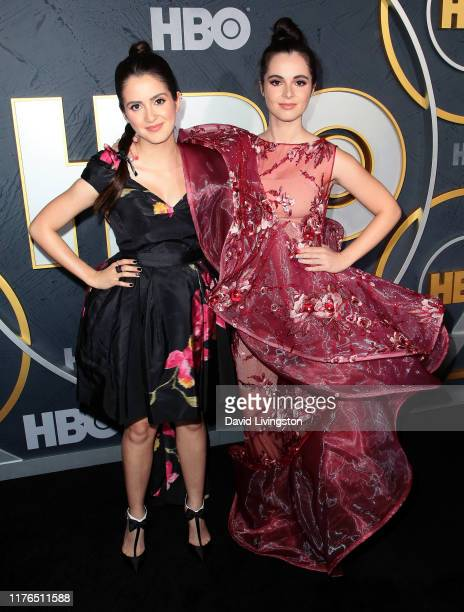 Laura Marano and Vanessa Marano attend the HBO's Post Emmy Awards Reception at The Plaza at the Pacific Design Center on September 22 2019 in Los...