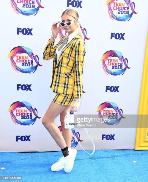 Laura Marano arrives at the FOX's Teen Choice Awards 2019 on August 11 2019 in Hermosa Beach California