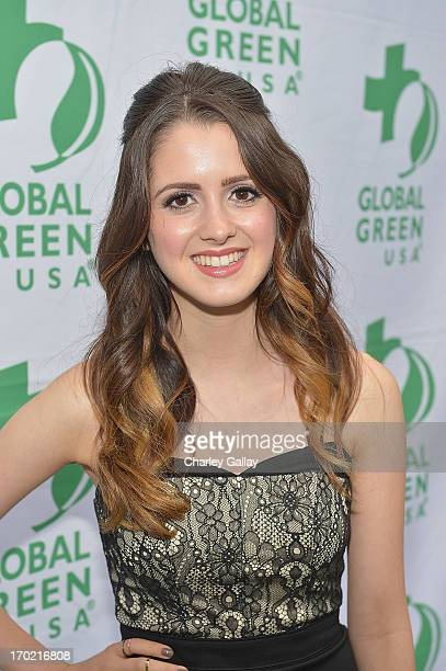 Laura Marano attends Global Green USA's Millennium Awards at Fairmont Miramar Hotel on June 8 2013 in Santa Monica California benefiting the places...