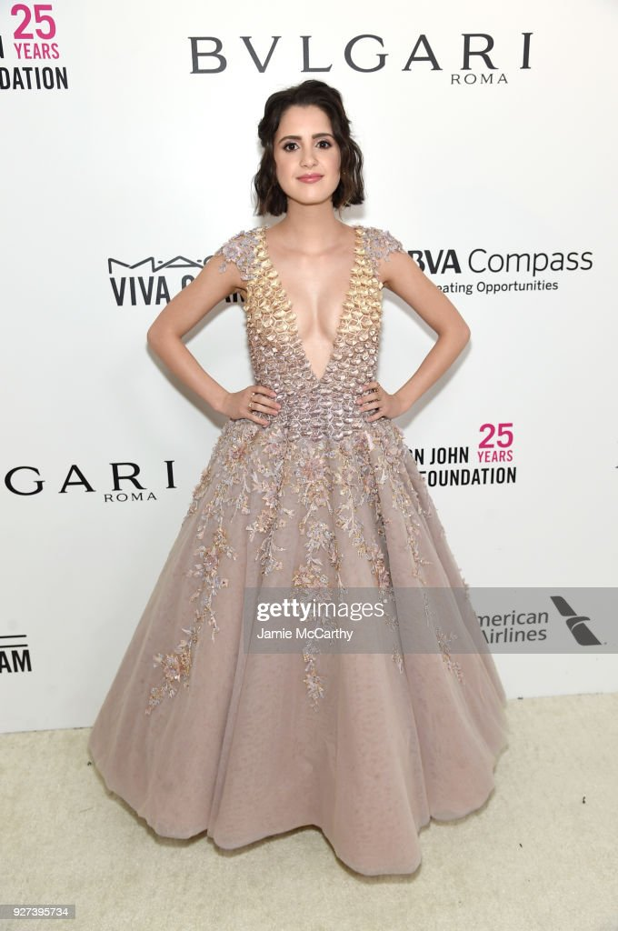 Laura Marano attends the 26th annual Elton John AIDS Foundation Academy Awards Viewing Party sponsored by Bulgari, celebrating EJAF and the 90th Academy Awards at The City of West Hollywood Park on March 4, 2018 in West Hollywood, California.