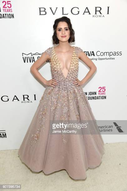 Laura Marano attends the 26th annual Elton John AIDS Foundation Academy Awards Viewing Party sponsored by Bulgari celebrating EJAF and the 90th...