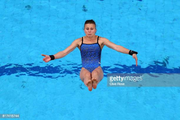 Laura Marino of France competes during the Women's Diving 10M Platform preliminary round on day five of the Budapest 2017 FINA World Championships on...