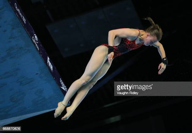 Laura Marino of France competes in the Women's 10m Final during Day Four of the 2017 Canada Cup/FINA Diving Grand Prix at Centre Sportif de Gatineau...