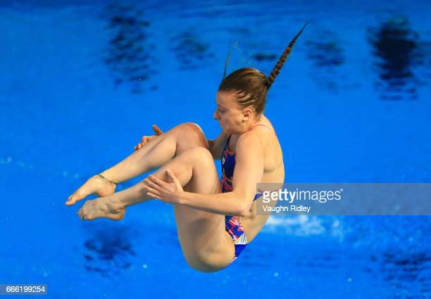 Laura Marino of France competes in the Women's 3m Prelim during Day One of the 2017 Canada Cup/FINA Diving Grand Prix at Centre Sportif de Gatineau...