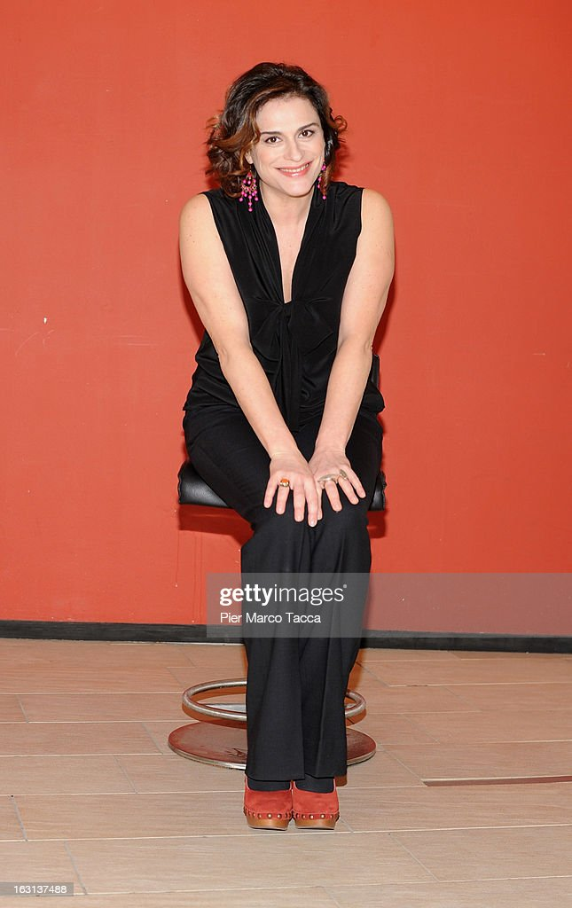 Laura Marinoni attends a 'Ci vuole un gran fisico' photocall on March 5, 2013 in Milan, Italy.