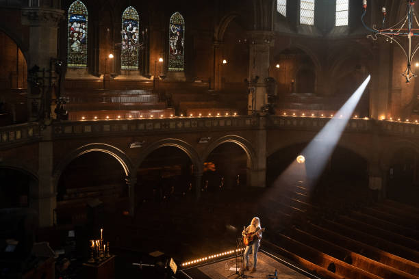 GBR: Laura Marling Performs At The Union Chapel, London