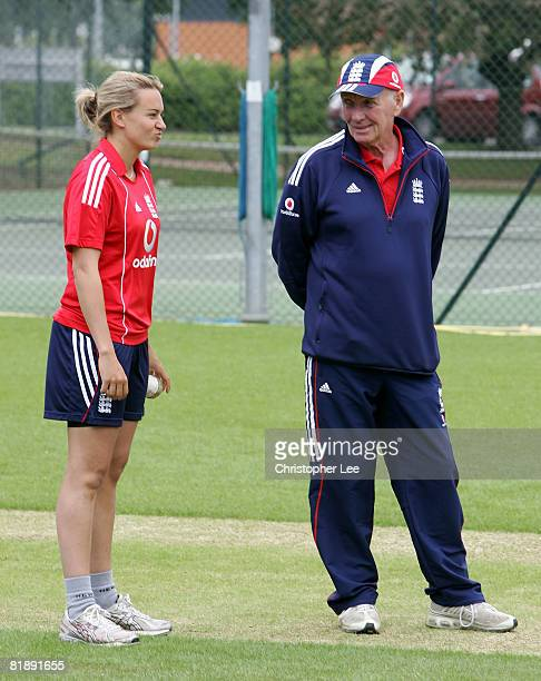 Laura Marsh and Jack Birkenshaw during the England Women's Training session at Loughborough University on July 10, 2008 in Loughborough, England.