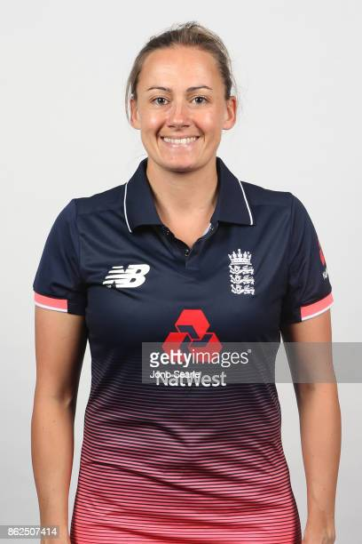 Laura Marsh poses during the England women's Test headshots session on October 13 2017 in Brisbane Australia