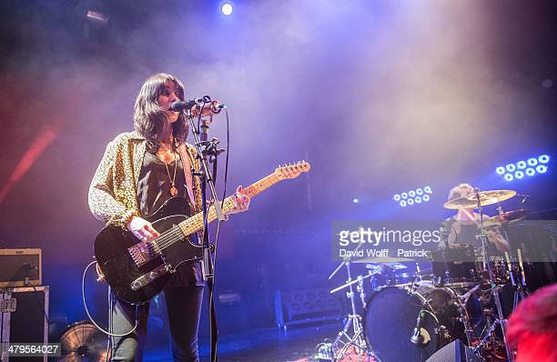 Laura Mary Carter from Blood Red Shoes performs at La Gaite Lyrique on March 19 2014 in Paris France