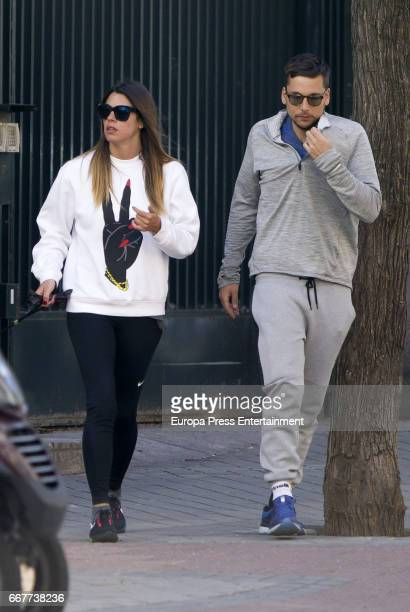 Laura Matamoros and Benji Aparicio are seen on April 3 2017 in Madrid Spain