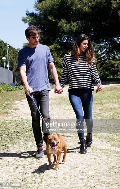 Laura Matamoros and Miguel Maristany are seen on April 18 2016 in Madrid Spain