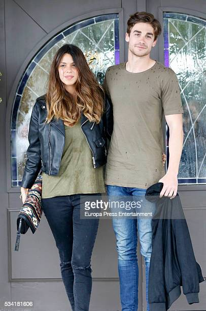 Laura Matamoros and Miguel Maristany are seen on April 21 2016 in Madrid Spain