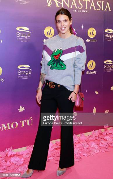 Laura Matamoros attends 'Anastasia The Musical' premiere at the Coliseum Teather on October 10 2018 in Madrid Spain