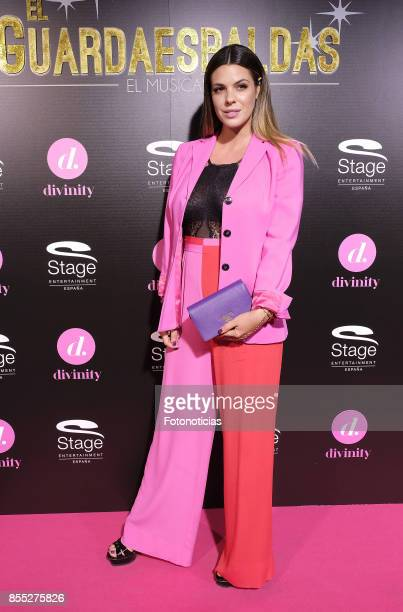 Laura Matamoros attends the 'El Guardaespaldas' musical premiere at the Coliseum Theater on September 28 2017 in Madrid Spain