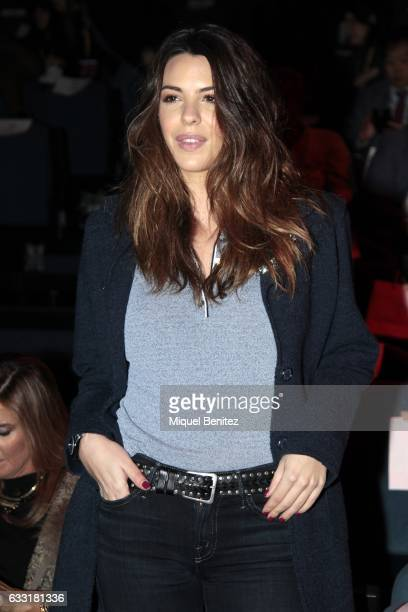 Laura Matamoros Flores attends the front row of Naulover show during the Barcelona 080 Fashion Week Autumn/Winter 2017 at Teatre Nacional de...