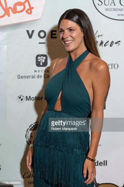 Laura Matamoros poses during a photocall for 'Ningun Nino Sin Derechos' charity dinner at the Can Magi restaurant on November 22 2018 in Sant Cugat...