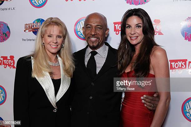 Laura McKenzie Montel Williams and Tara Fowler attend Elizabeth Stanton's Sweet 16 Benefiting Toys for Tots at The Globe Theatre on December 18 2011...